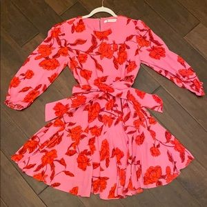 Floral pink & red dress!!!